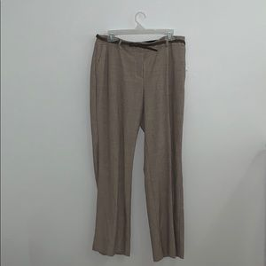 Light Brown Curvy Fit Brown Pants